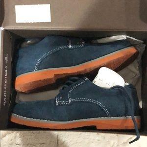 Boys Florsheim blue suede dress shoes- like new